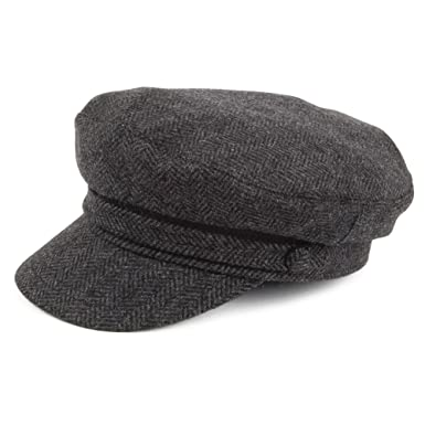 Jaxon   James Herringbone Fiddler Cap - Charcoal  Amazon.co.uk  Clothing 11737b003c07