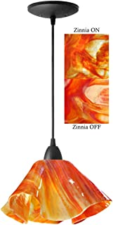 product image for Jezebel Signature Lily Pendant Large. Hardware: Black. Glass: Zinnia