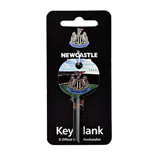 Newcastle United FC Official Football Soccer Crest Key Blank One Size Multicoloured