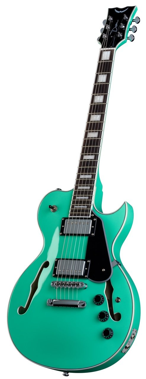Amazon.com: Dean SHIRE AQA Semi Hollow Body Electric Guitar With Piezo, Aqua: Musical Instruments