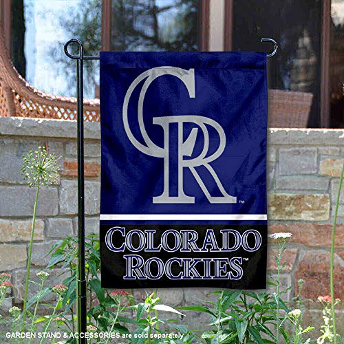 WinCraft Colorado Rockies Double Sided Garden Flag