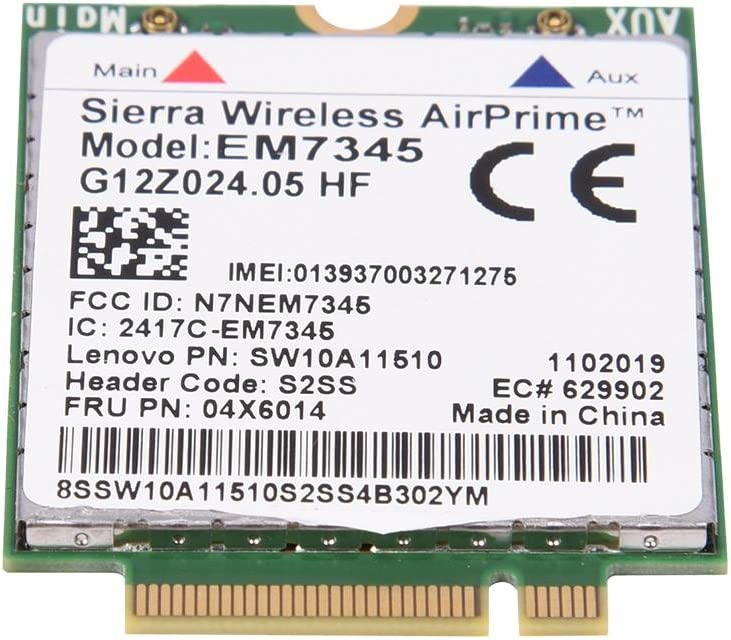 EM7345 04X6014 4G LTE WWAN M/ódulo de Tarjeta para Thinkpad X250 X1C W550 T450 X240 T440 WWAN LTE M/ódulo 4G