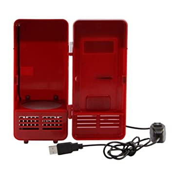 Gosear Coca USB mini nevera congelador del refrigerador para bebidas Coca Cola blanco rojo: Amazon.es: Hogar