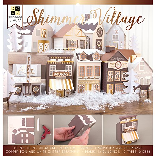 American Crafts Shimmer Village DCWV DIY Project Stack