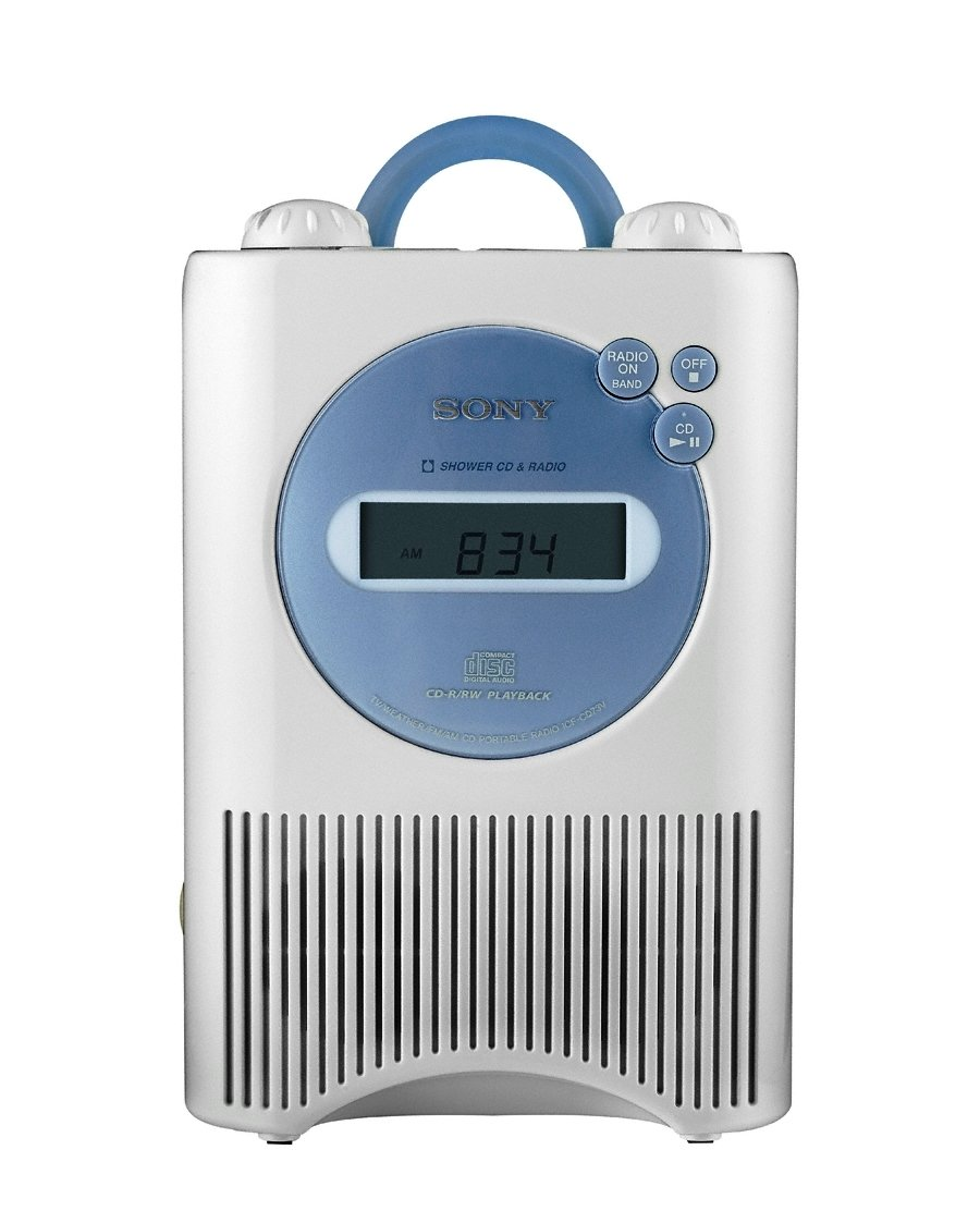 Amazon.com: Sony ICF-CD73W AM/FM/Weather Shower CD Clock Radio ...