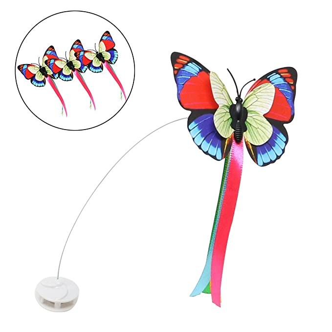 adb580c4f658e6 Amazon.com   Bascolor Electric Rotating Cat Toy Butterfly Refills Set of 3  Accessories   Pet Supplies