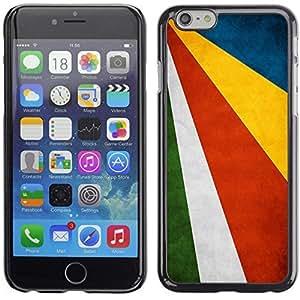 YOYO Slim PC / Aluminium Case Cover Armor Shell Portection //Seychelles Grunge Flag //Apple Iphone 6 Plus 5.5