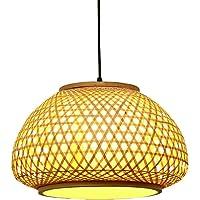 FRCOLOR Bamboo Ceiling Pendant Light Retro Japanese Style Chandelier Hanging Light Bamboo Lantern Pendant Lamp Ceiling…
