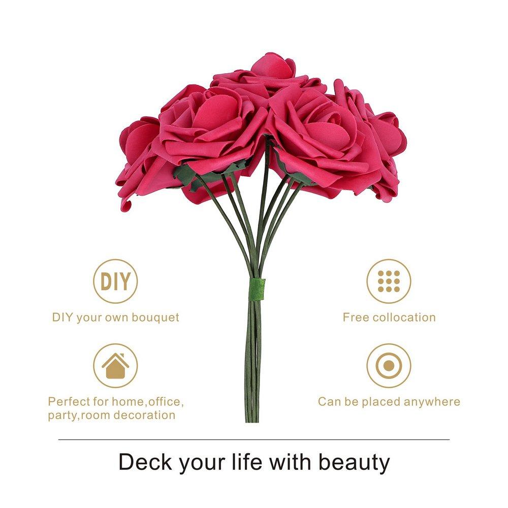 Amazon.com: Febou Artificial Flowers, 50pcs Real Touch Artificial ...