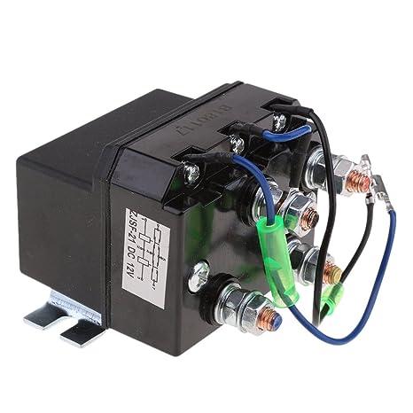 amazon com baoblaze heavy duty 12v dc winch reversing solenoidbaoblaze heavy duty 12v dc winch reversing solenoid relay 200a atv switch