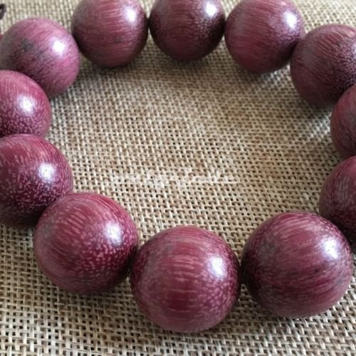 20mm12 Bead Natural 紫罗兰木 Lavender Violet Wood Prayer Beads Beaded Bracelet