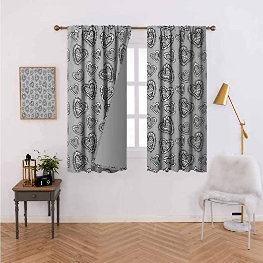Amazon.com: Rod Pocket Window Curtains for Bedroom,Polyester ...