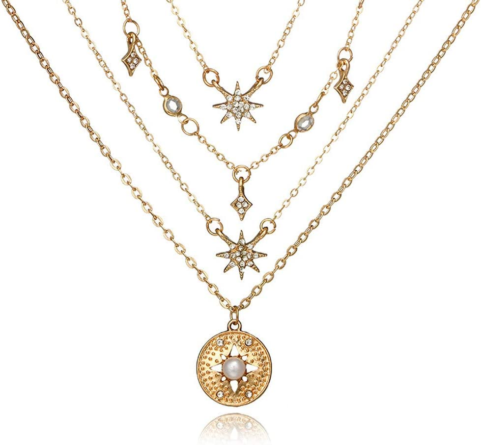 Necklaces for Women Women Black Lace Necklace Collar Choker Vintage Gothic Chain Pendant Long Necklace Chain Bulk Fashion Jewelry Silver Gold Cross Extenders Rose Gold