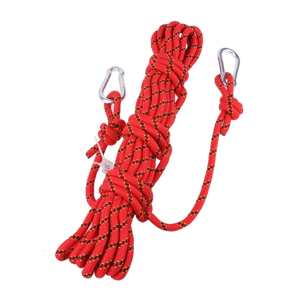 Preeyawadee Safety 10m Paracord Rock Climbing Rope Hiking Accessories