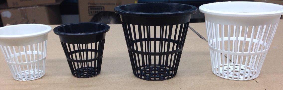 5,1/cm Noir /à fente en maille filet Pot pour hydroponie//Aquaponie//orchid/ées/ Np2ab /Lot de 50