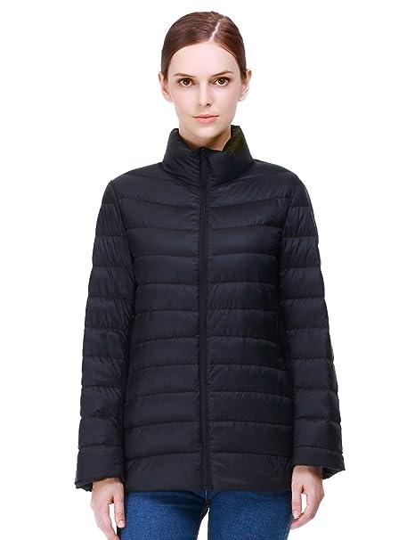 Puredown chaqueta de las mujeres del ganso: Amazon.es: Ropa ...
