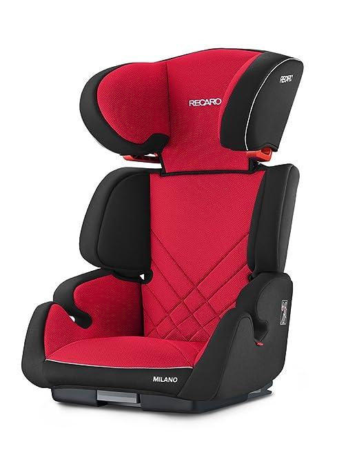 Recaro Milano Seatfix, Silla de coche grupo 2/3, rojo (Racing Red