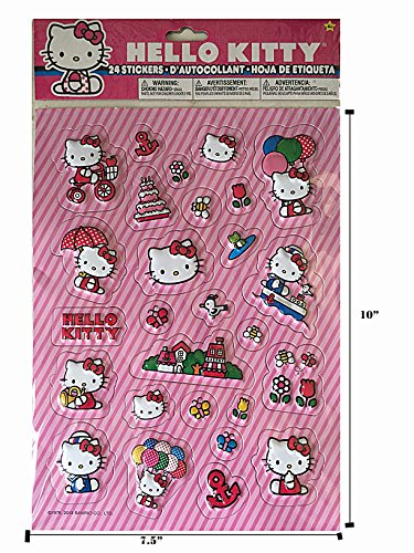 Sanrio Hello Kitty Raised Sticker 1 (Hello Kitty Birthday Stickers)