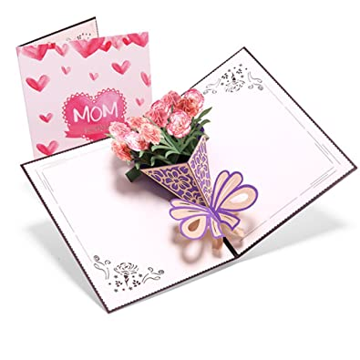 Aruie tarjeta de felicitación 3d clavel ramo de flor ...