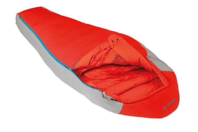 Amazon.com : VAUDE Cheyenne 500 - Lightweight & Comfortable Down Sleeping Bag - Mummy Shape - Perfect for Backpacking, Hiking and Camping - 3 Season for ...