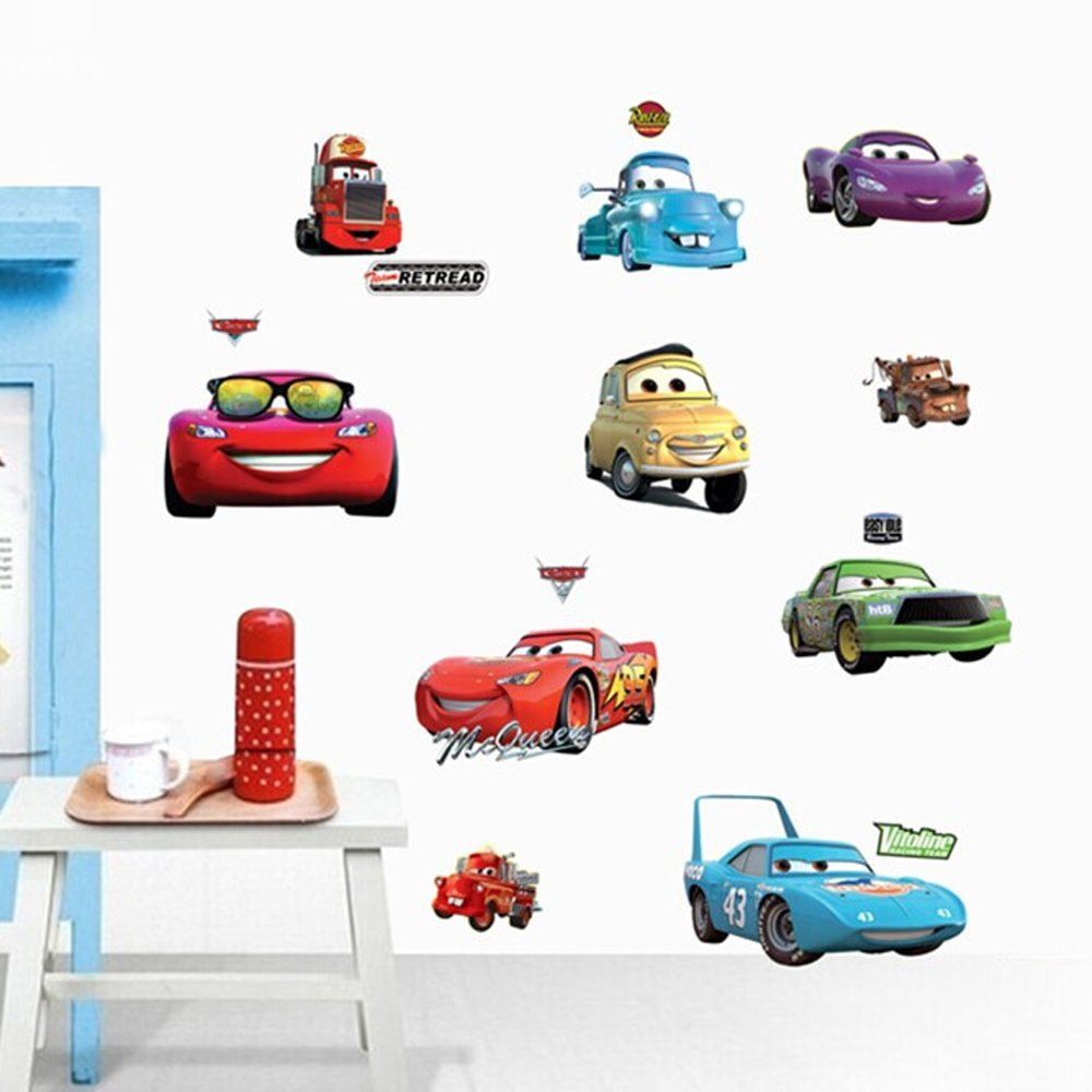 ufengke® Cartoon Cars Trucks Wall Decals, Children's Room Nursery Removable Wall Stickers Murals Ufingo