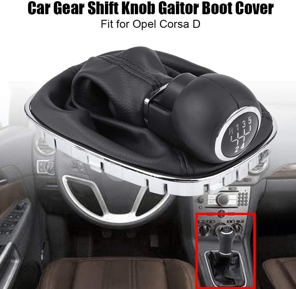 Gear Shift Knob Gaiter Car Gear Shift Knob Lever Stick Gaitor Boot Cover Replacement for Corsa D Part Number:009140093 19276456