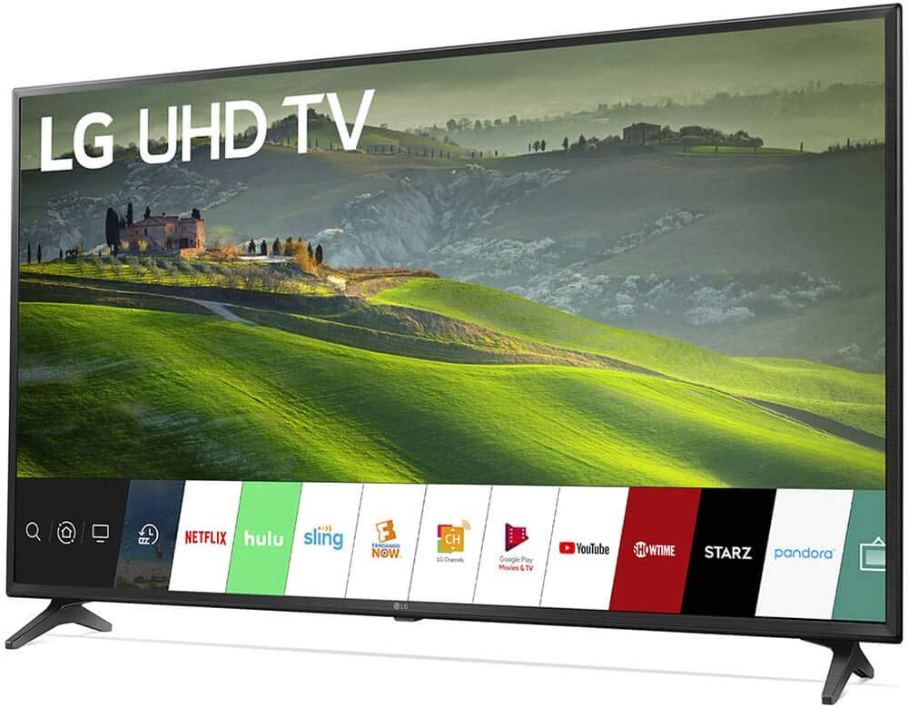 LG HDR 4K UHD Smart LED TV (2019) Bundle con Deco Mount Flat Wall Mount Kit, Deco Gear Wireless Backlit Keyboard y 6-Outlet Surge Adapter con luz Nocturna: Amazon.es: Electrónica