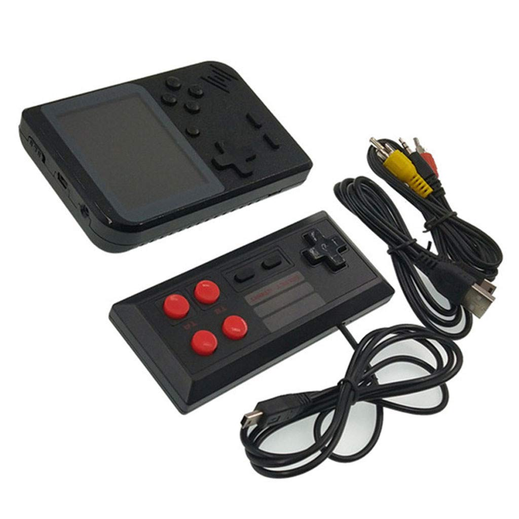 Cywulin Retro Mini Handheld Video Game Player, Built-in 400 Classic Games Gameboy with Extra Joystick Portable Controller Console 3 Inch Support TV Family 2 Player Present for Boy Kids Adult (Black)