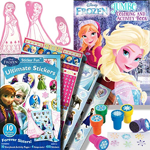 Disney Frozen Coloring Book & Stickers Activity Set with Stampers