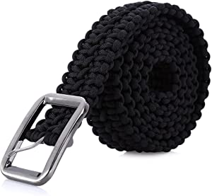 Stylrtop Tactical Waist Belt Survival Woven Belt for Camping, Hunting, Hiking, and Other Outdoor Activities(Length: 1.2 Meters Can be Unraveled into a 28 Meters Parachute Cord,Pulling Force:550lbs