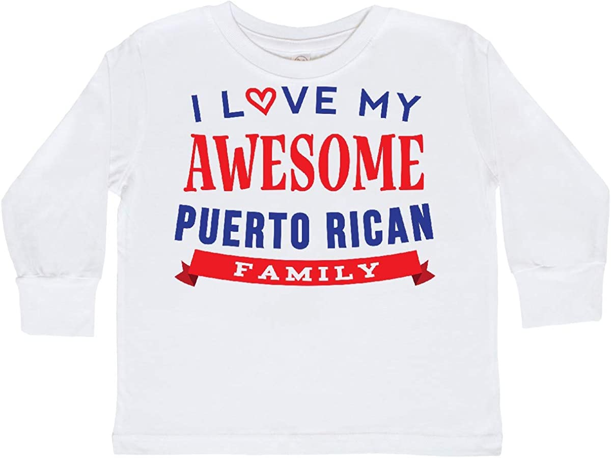 inktastic Puerto Rico Love My Puerto Rican Family Toddler Long Sleeve T-Shirt