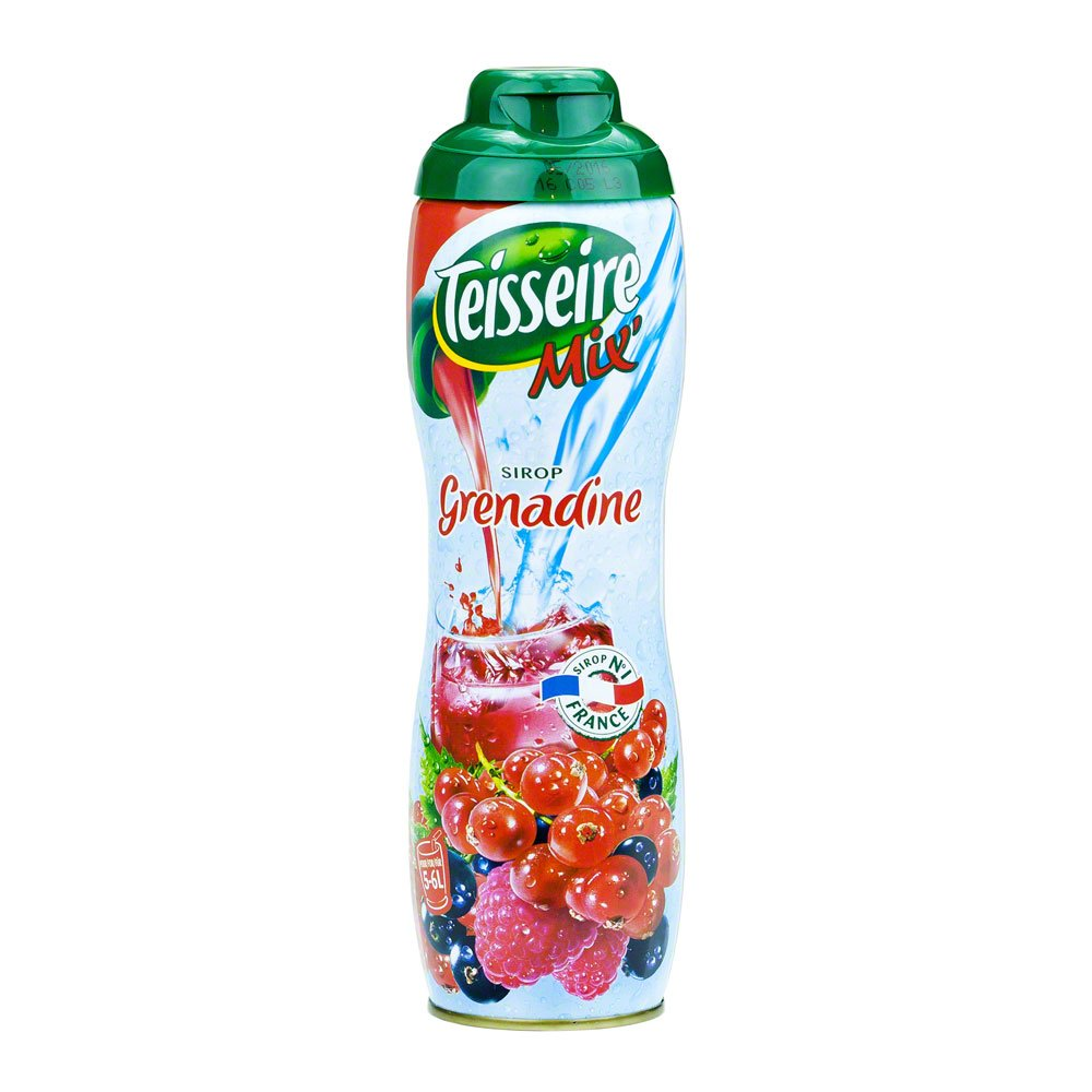 Grenadine Teisseire French Syrup Grenadine concentrate 600ml (20.3 fl oz) (2 PACK)