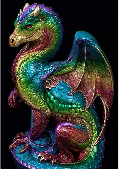 5D DIY Full Drill Diamond Painting Dragon Bird Cross Stitch Kits Wall Art Decor
