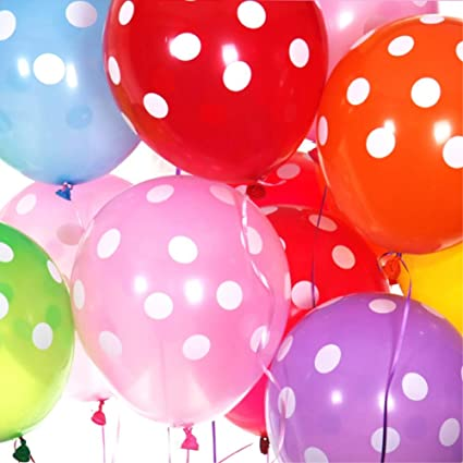 "10x 12/"" Light Pink//White Polka Dot Balloons Latex Birthday Party Decorations"