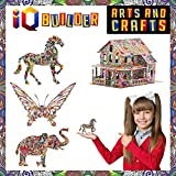 IQ BUILDER ARTS AND CRAFTS FOR GIRLS AGE 7 8 9 10 11 12 YEAR OLD AND UP | 3D ART COLORING PAINTING ANIMAL PUZZLE SET | FUN CREATIVE DIY TOYS | FAMILY CRAFT KIT WITH SUPPLIES | BEST TOY GIFT FOR KIDS