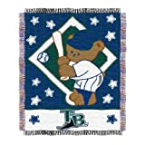 MLB Tampa Bay Devil Rays 36-Inch-by-46-Inch Woven Jacquard Baby Throw