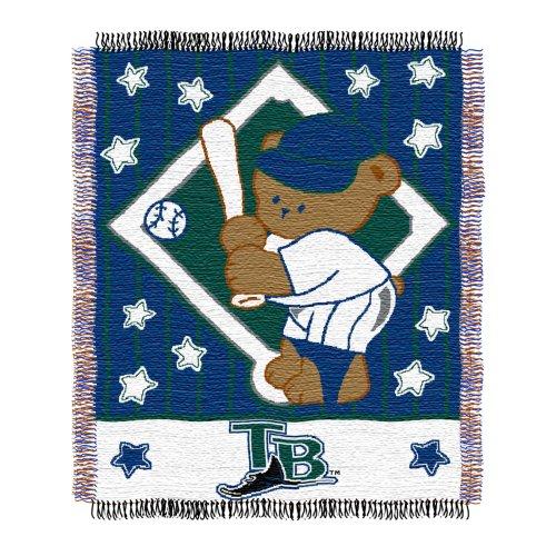 Triple Woven Jacquard Mlb Throw - MLB Tampa Bay Rays Original Woven Jacquard Baby Throw, 36