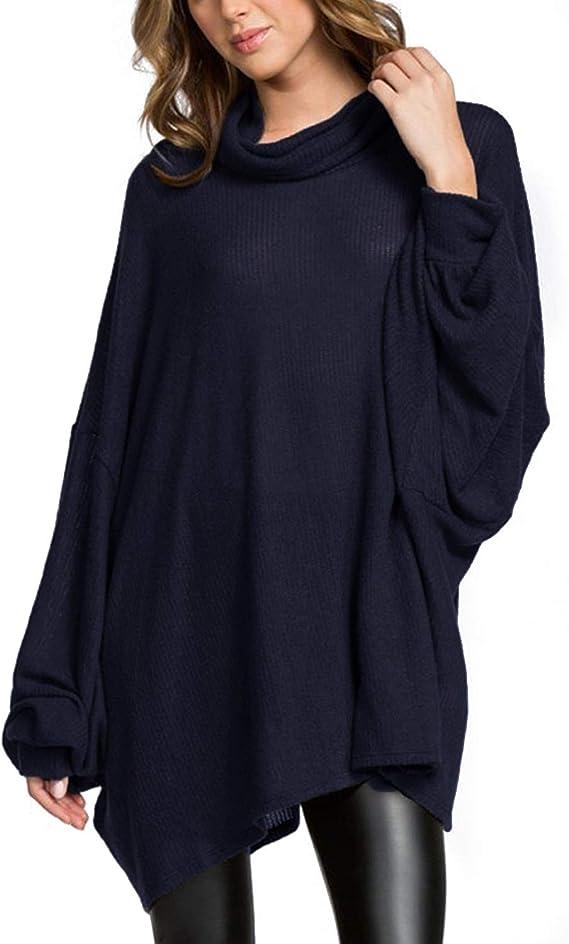 ACHIOOWA Donna Camicia Camicetta Casual Shirt Elegante Basic Loose Top V-Neck Sciolti Top a Manica Lunga