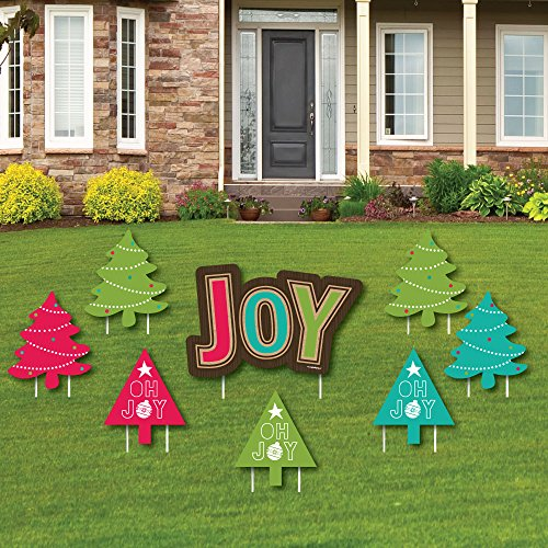 Rustic Joy - Yard Sign & Outdoor Lawn Decorations - Holiday