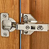Blum 100° Overlay Clip Top Hinges 3/8'' - 5/8'' Overlay for Face Frame Applications (Pair)