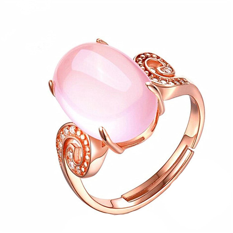 Amazon.com: Alonea Crystal Ring, Hibiscus Diamond Ring Rose Gold ...