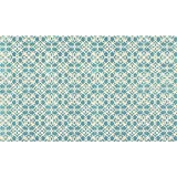 RUGGABLE Washable Stain Resistant Pet Dog Accent Rug for Indoor/Outdoor - Floral Tiles Aqua Blue 3' x 5' Accent Rug