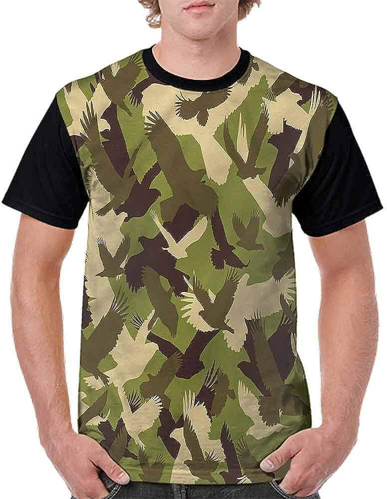 BlountDecor Classic T-Shirt,Open Wings Camouflage Fashion Personality Customization