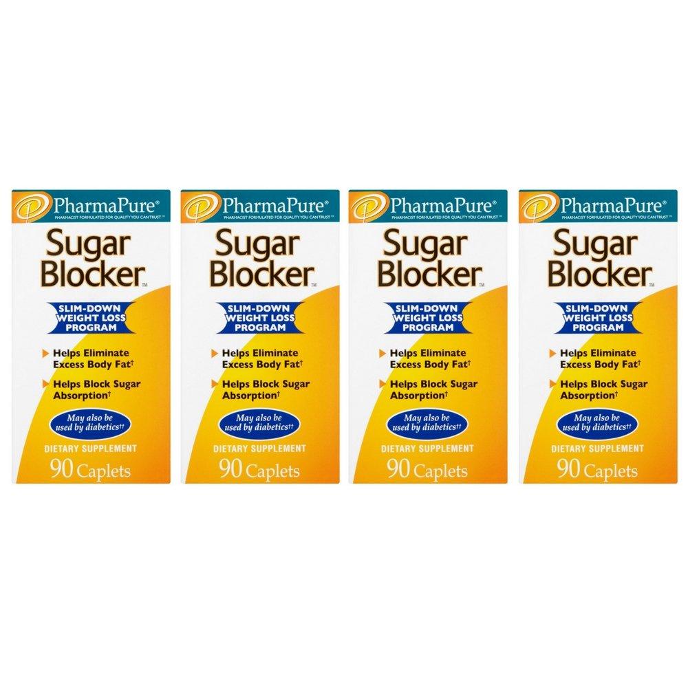 PharmaPure Sugar Blocker Slim-down Weight Loss Program (90 Caplets) (4 pack)