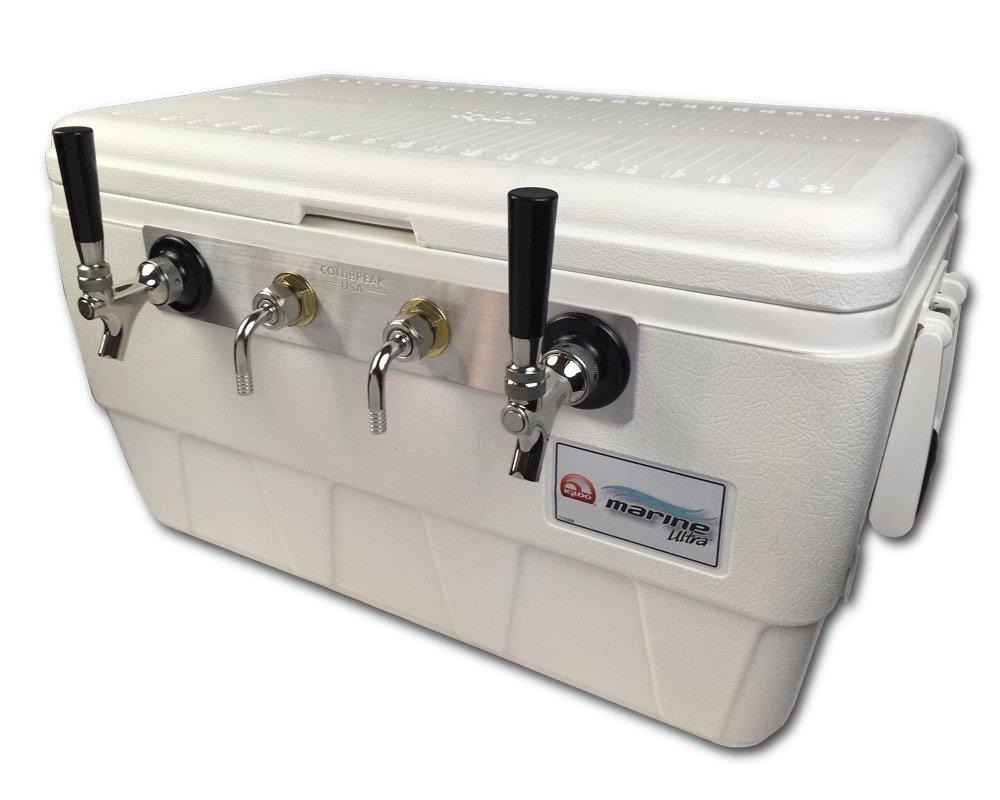 Coldbreak Brewing Equipment CBJBMBE2T Jockey Box, 2 Tap, Marine Bartender Edition, 48 quart Cooler, 50-foot Coils, 0.25'' ID, Sizenameinternal'' OD, Stainless Steel