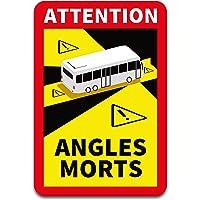 Attention Angles Morts Stickers van elk 25 x 17 cm, voor voertuigen, verplicht in Frankrijk, waarschuwing, dode hoek…