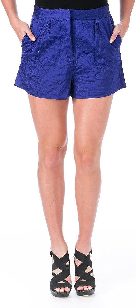Elizabeth und James Womens Jody Satin Quilted Casual Shorts