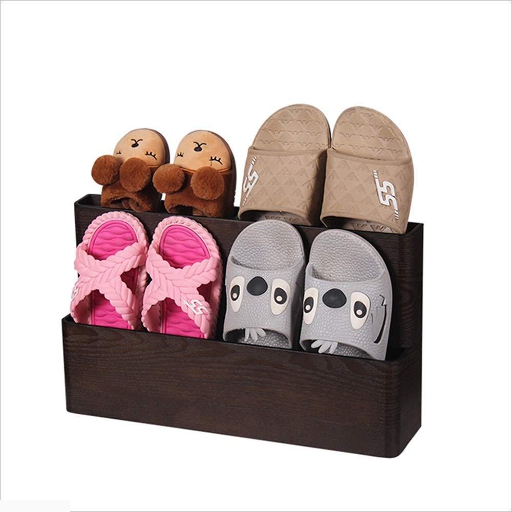 XIAOYAN シンプルな木製のスリッパフレームダブル家庭用収納靴キャビネット46 * 11 * 28センチメートル(長さ、幅、高さ) (色 : 02, サイズ さいず : 46 * 11 * 28cm) B07HW3VZYM 2 46*11*28cm