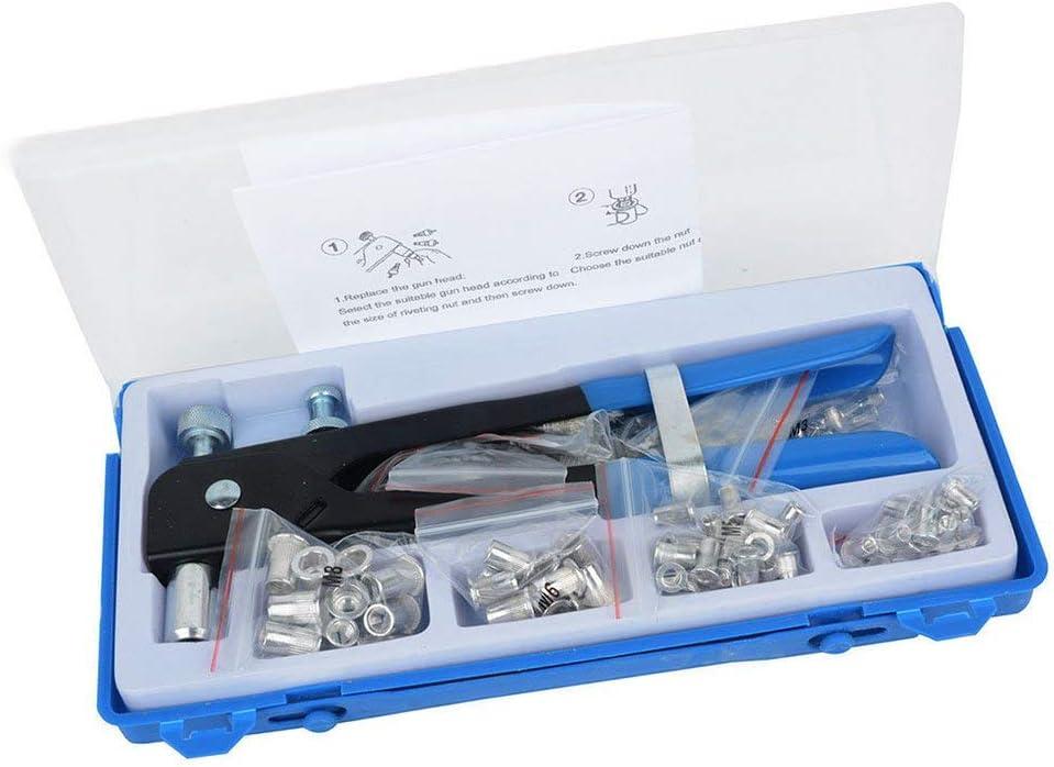 Symboat 86 Pcs M3-M8 Filet/é /Écrou Rivet Insert Outil Set Riveter Rivnut Rivetage Kit