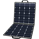 Suaoki 100W 18V 12V Solar Panel Charger SunPower Cell Portable Foldable with Dual Output (5V/2A USB + 18V/5A DC), 10 Laptop Connectors for Smartphones, Laptops, Car Batteries, Generator, Power Source